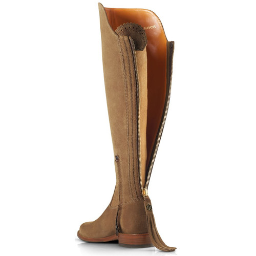 Tan Suede Fairfax & Favor Flat Amira Boots
