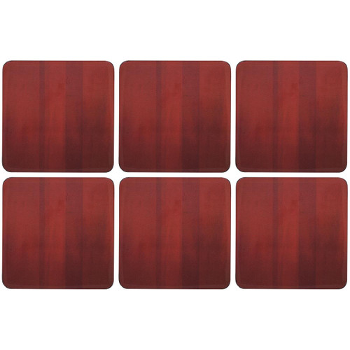 Red Denby Set Of 6 Coasters