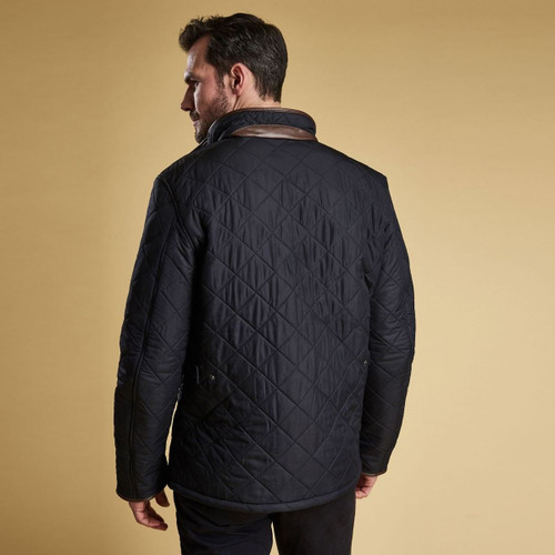 Barbour Mens Powell Quilted Jacket Rear