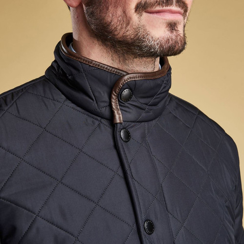 Barbour Mens Powell Quilted Jacket Collar