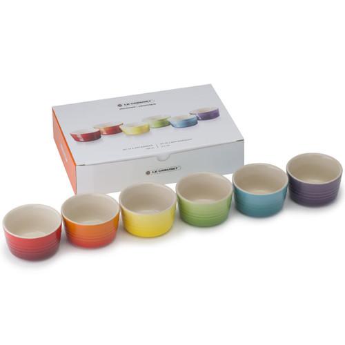 Le Creuset Stoneware Rainbow Set Of 6 Mini Ramekins