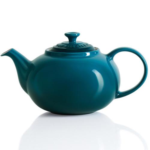 Deep Teal Le Creuset Stoneware Classic Teapot