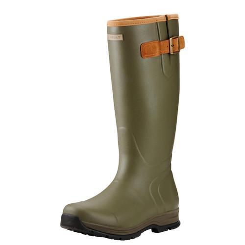 Olive Green Ariat Burford Mens Wellington Boots