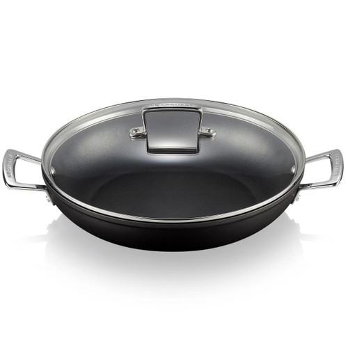 Le Creuset Toughened Non-Stick Shallow Casserole With Glass Lid