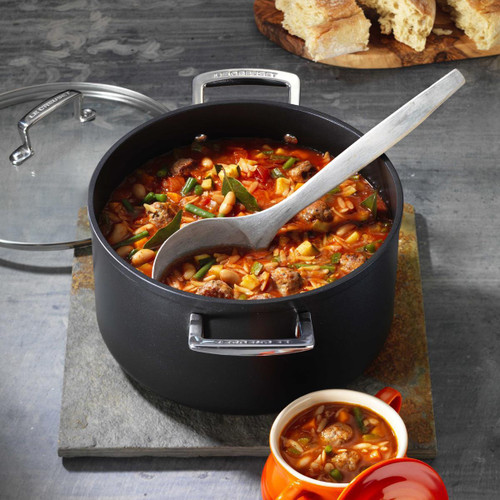Le Creuset Toughened Non-Stick Deep Casserole With Glass Lid