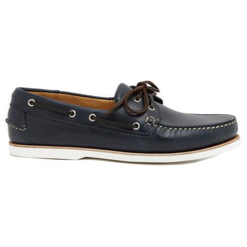 Navy R.M. Williams Mens Barham Boat Shoes
