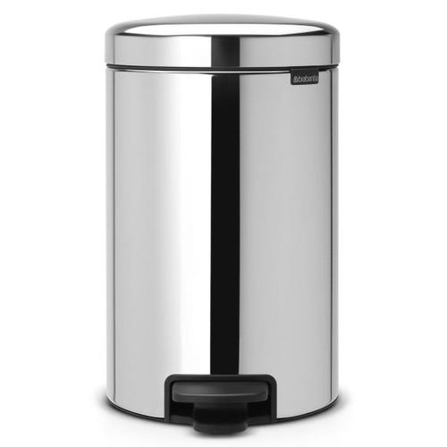 Brilliant Steel Brabantia newIcon Pedal Bin 12 Litre Metal Bucket