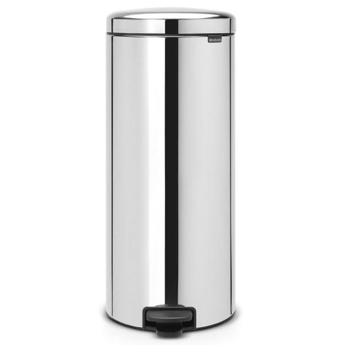 Brilliant Steel Brabantia newIcon Pedal Bin 30 Litre Plastic Bucket