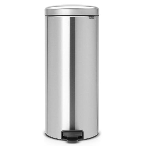 Matt Steel Brabantia newIcon Pedal Bin 30 Litre Plastic Bucket