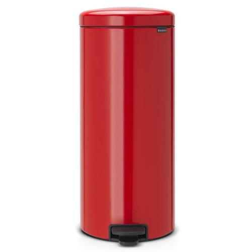 Passion Red Brabantia newIcon Pedal Bin 30 Litre Plastic Bucket