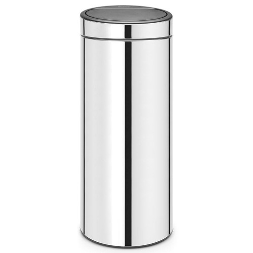 Brilliant Steel Brabantia Touch Bin New 30 Litre