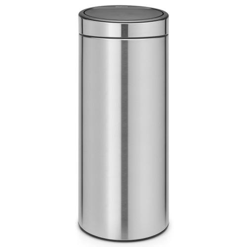 Matt Steel Brabantia Touch Bin New 30 Litre