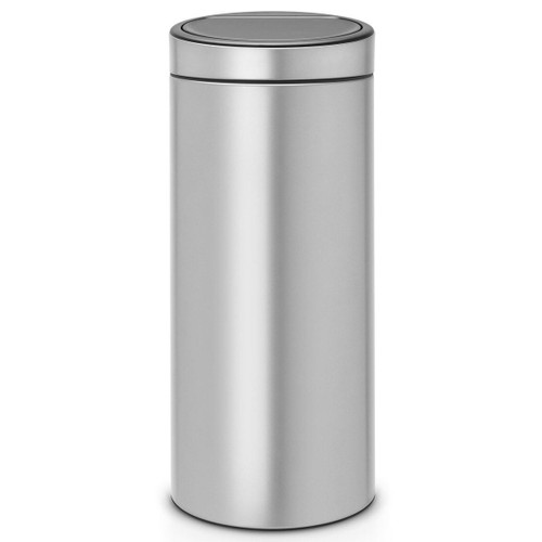 Metallic Grey Brabantia Touch Bin New 30 Litre