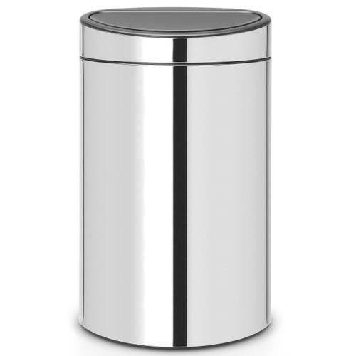 Brilliant Steel Brabantia Touch Bin 40 Litre
