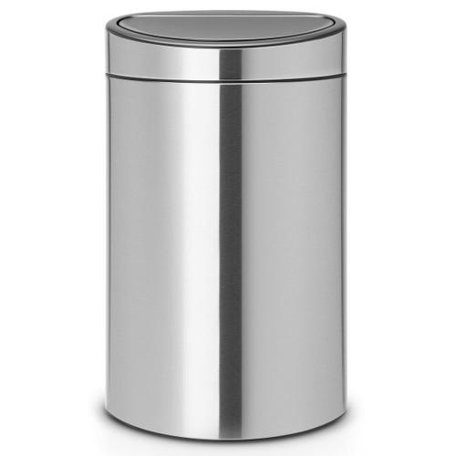 Matt Steel Brabantia Touch Bin 40 Litre