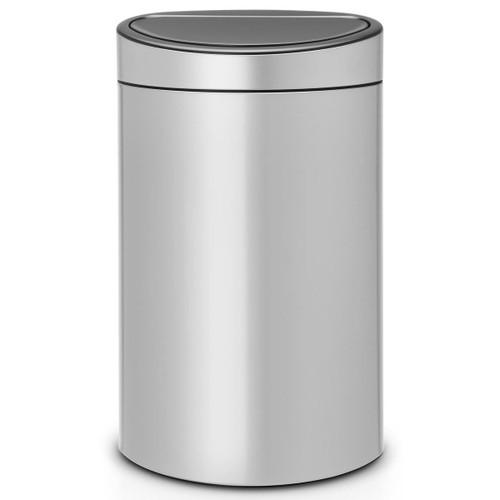 Metallic Grey Brabantia Touch Bin 40 Litre