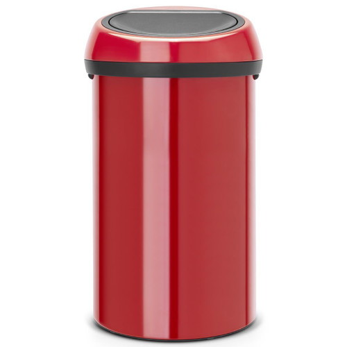 Passion Red Brabantia Touch Bin 60 Litre