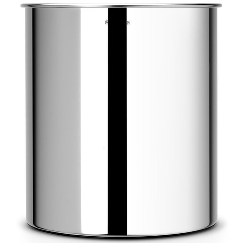 Brilliant Steel Brabantia Waste Paper Bin 7 Litre
