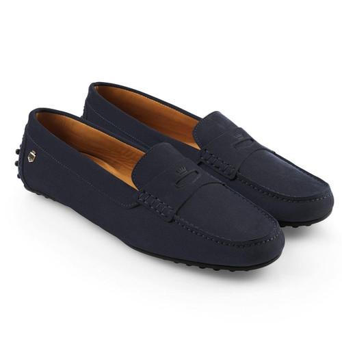 Navy Fairfax & Favor Hemsby Loafers