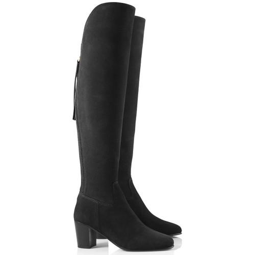 Black Suede Fairfax & Favor Womens Heeled Amira Boots