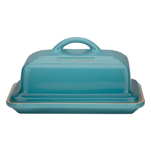 Teal Le Creuset Stoneware Butter Dish