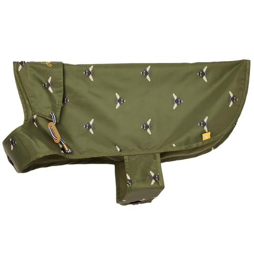 Khaki Green Bee Water Resistant Dog Coat