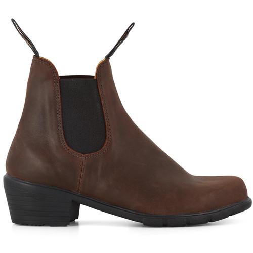 Antique Brown Blundstone Womens 1673 Chelsea Heel Boot