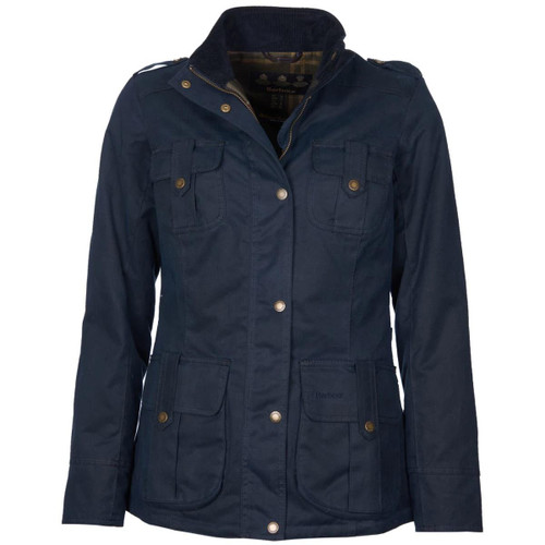 Navy Barbour Winter Defence Wax Jacket