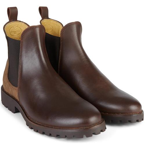 Caramel Le Chameau Womens Jameson Leather Chelsea Boot