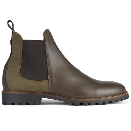 Marron Le Chameau Mens Jameson Leather Chelsea Boot