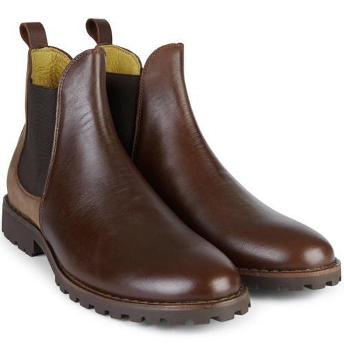 Caramel Le Chameau Mens Jameson Leather Chelsea Boot