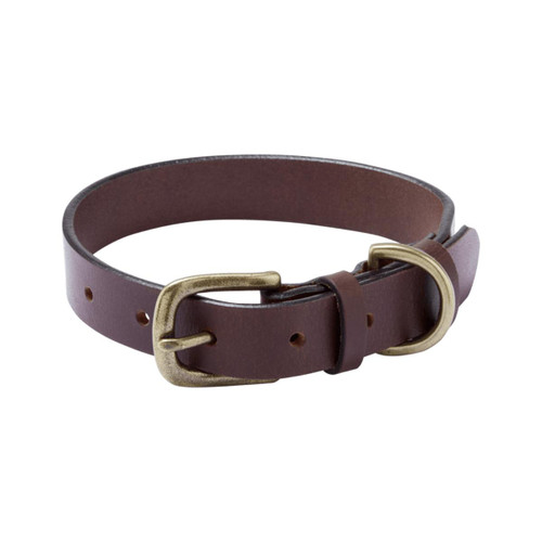 Marron Le Chameau Leather Dog Collar