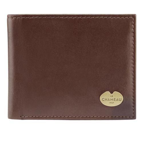 Marron Fonce Le Chameau Leather Bifold Wallet