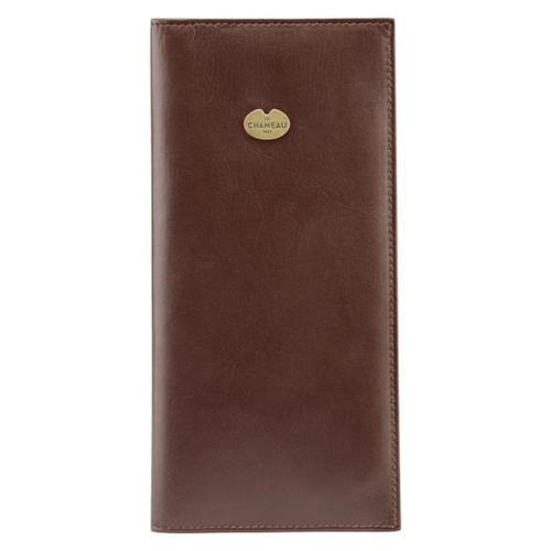 Marron Fonce Le Chameau Leather Shotgun Licence Wallet