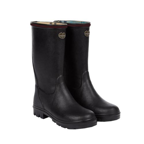Noir Le Chameau Petite Adventure Jersey Lined Boot