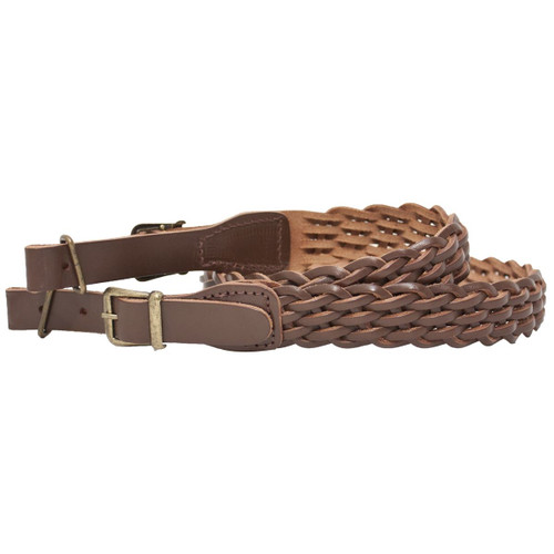 Bisley Pleated Leather Rifle Sling