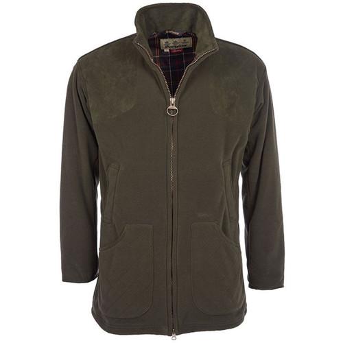 Olive Green Barbour Mens Dunmoor Fleece Jacket