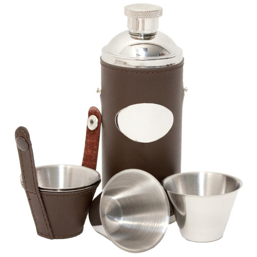David Nickerson Hunters Flask With Cups
