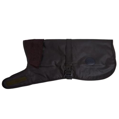 Olive Barbour Shiny Wax Dog Coat