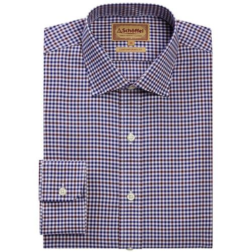 Navy/Fig Micro Schoffel Mens Burnsall Shirt