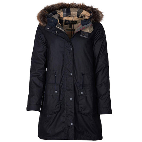 Navy/Dress Barbour Womens Mull Wax Jacket