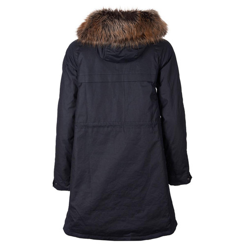 Barbour Womens Mull Wax Jacket Rear