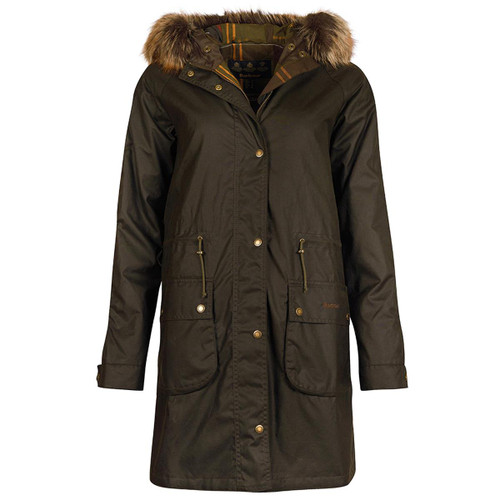 Olive/Classic Barbour Womens Mull Wax Jacket