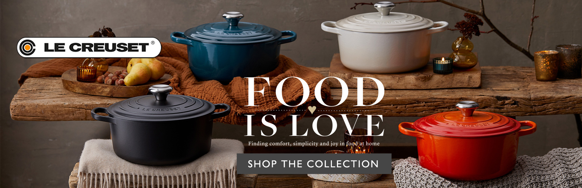 Le Creuset Food is Love - Shop the Collection
