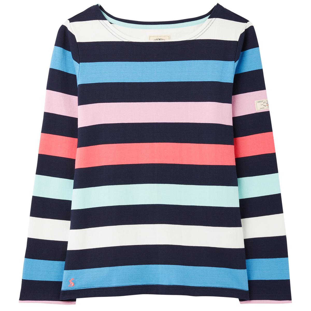 joules womens harbour long sleeve jersey top ss21 navy stripe 14
