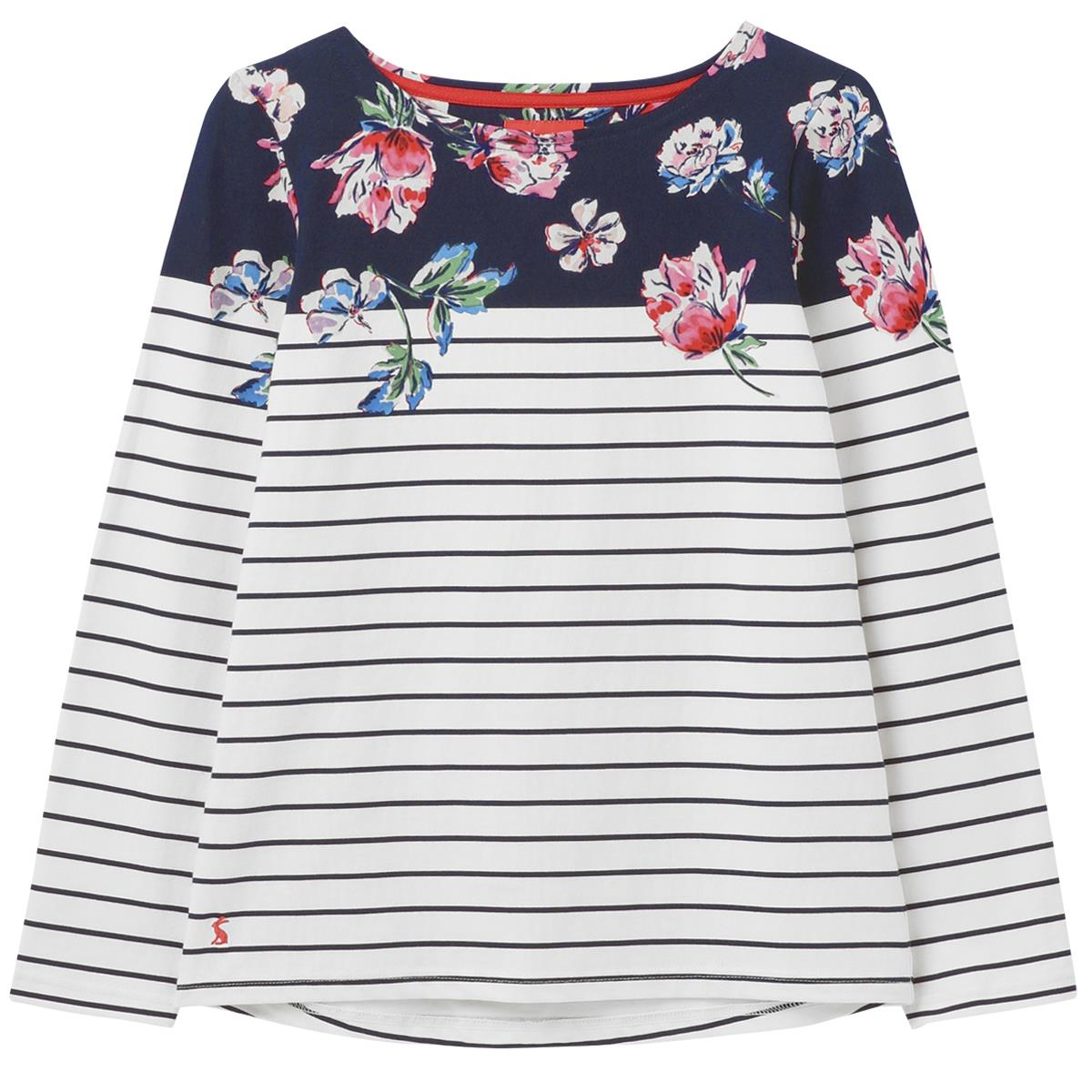 joules womens harbour print long sleeve jersey top ss21  12