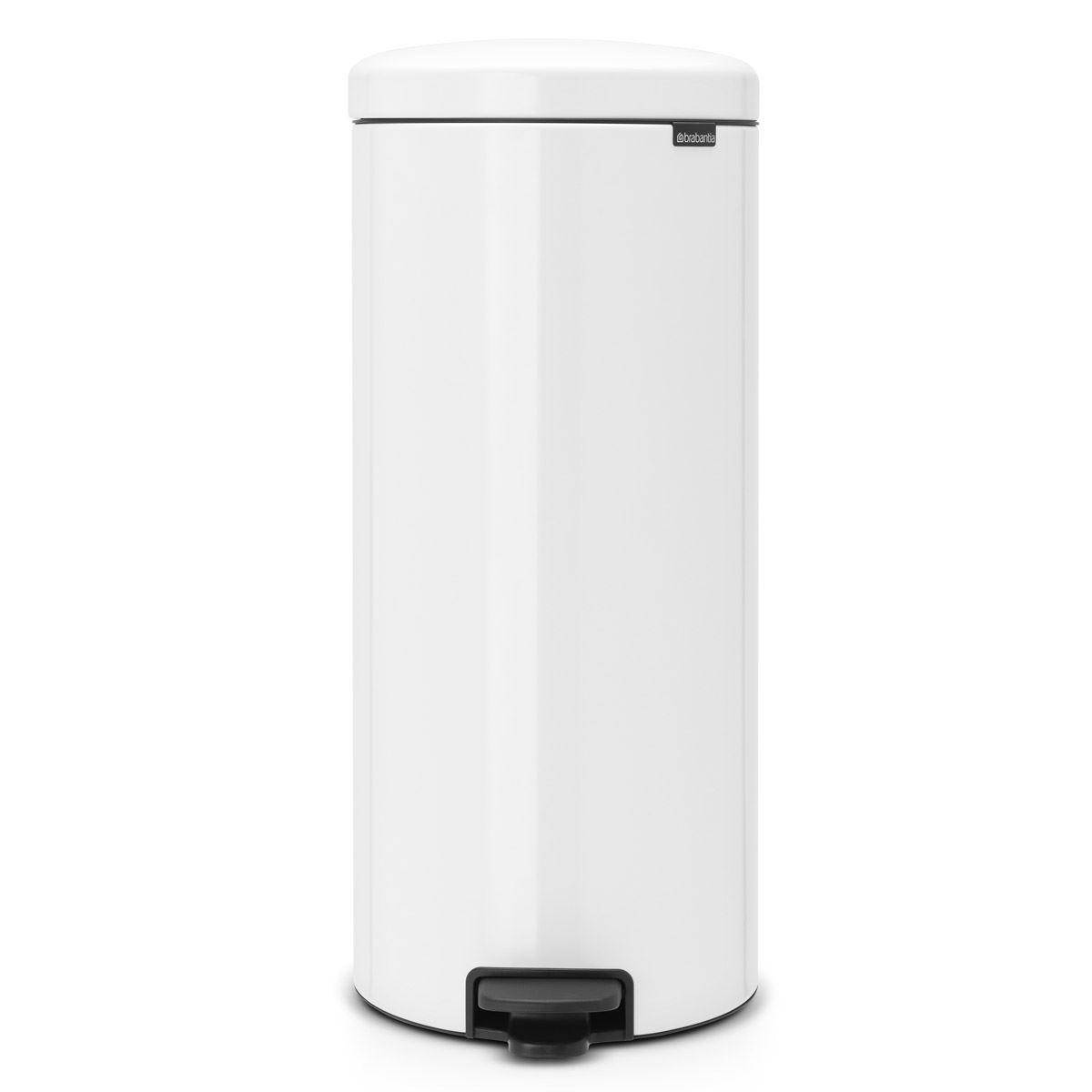 Brabantia newIcon Pedal Bin 30 Litre Plastic Bucket White