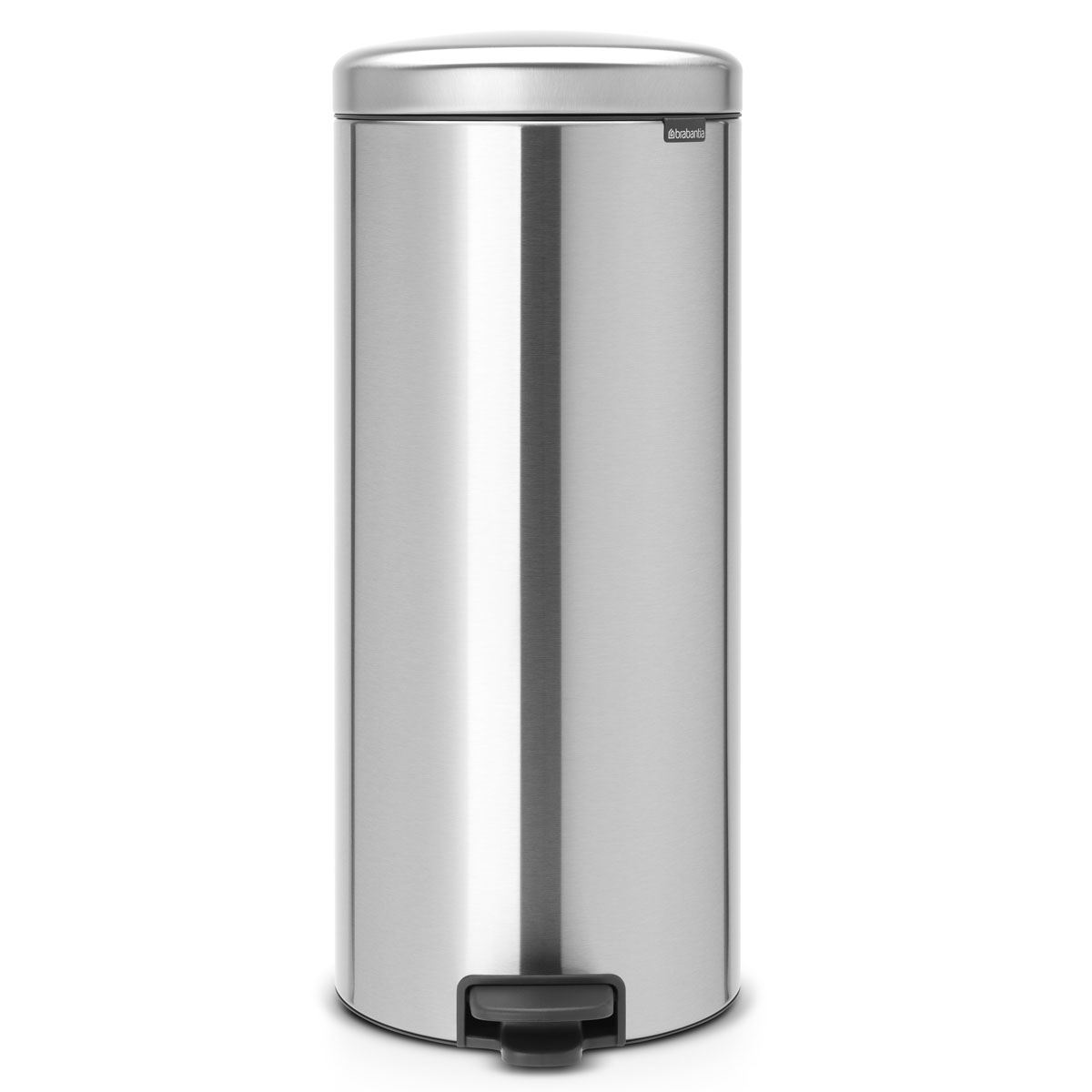 Brabantia newIcon Pedal Bin 30 Litre Plastic Bucket Matt Steel