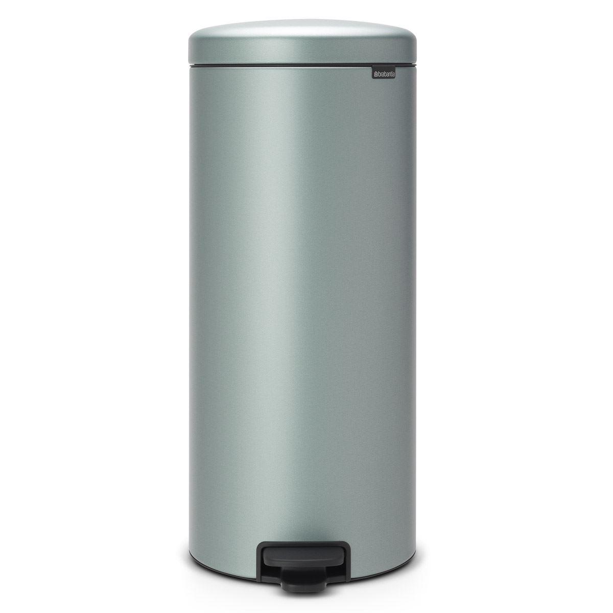 Brabantia newIcon Pedal Bin 30 Litre Plastic Bucket Metallic Mint