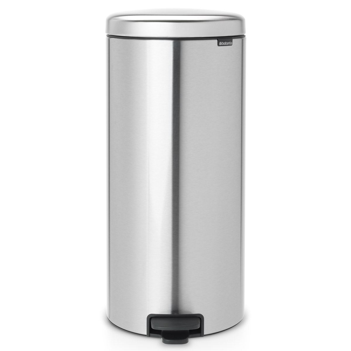 Brabantia newIcon Pedal Bin 30 Litre Plastic Bucket Matt Steel Fingerprint Proof